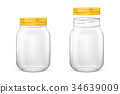 Vector realistic empty glass jar for canning and 34639009