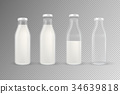 Vector realistic transparent closed and open empty 34639818