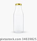 Vector realistic transparent closed empty glass 34639825