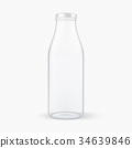 Vector realistic transparent closed empty glass 34639846