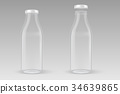 Vector realistic transparent closed and open empty 34639865