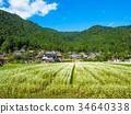 thatched roof village, beautiful mountain, kayabuki-no-sato 34640338