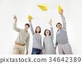 家庭 紙飛機 朝鮮的 34642389