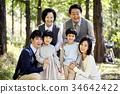 가족, 공원, 한국인 34642422