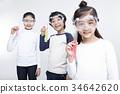 고글, 실험기구, 어린이 34642620