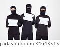 도둑, 마스크, 범죄 34643515
