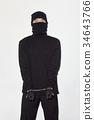 도둑, 마스크, 범죄 34643766