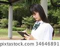 여고생, 여자 고등학생, 스마트폰 34646891
