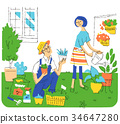 person, gardening, husband and wife 34647280