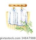 흰색 셔츠 34647988