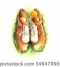 鞋 鞋子 使用蠟筆作的畫 34647990