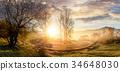 sunrise, fog, serpentine 34648030