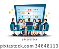 Brainstorming teamwork with people discussion 34648113