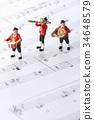 塑像 玩偶 演奏 34648579