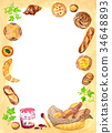 面包 拥挤 果酱 34648893