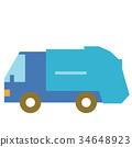 쓰레기 트럭 34648923