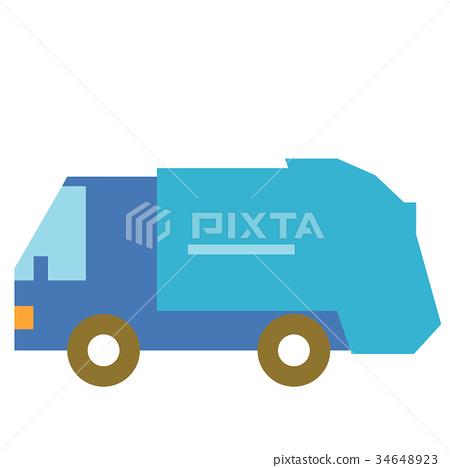 Garbage truck 34648923
