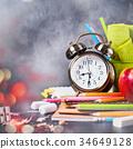 Chalk Text Back To School Alarm Clock Stationery 34649128