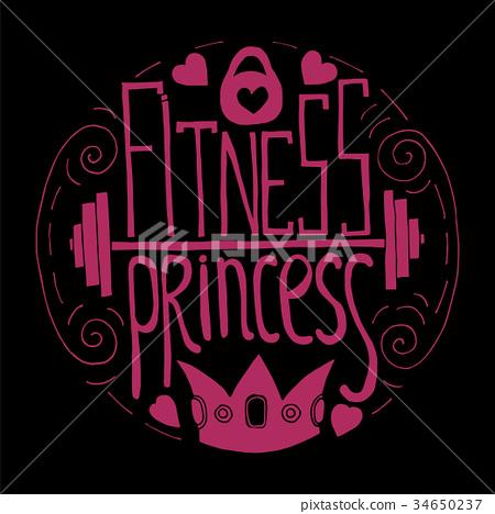 fitness princess hand drawn circle 34650237