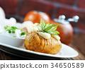 烘烤的 馬鈴薯 土豆 34650589