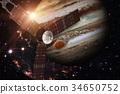 Juno spacecraft and Jupiter. 34650752