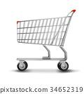 Shopping cart isolated on white background. 34652319