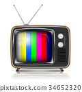Vector Retro TV with color frame 34652320