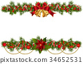 Christmas garlands with fir branches 34652531