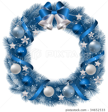 Traditional Christmas Wreath 34652533