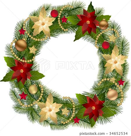 Traditional Christmas Wreath 34652534