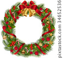 Traditional Christmas Wreath 34652536