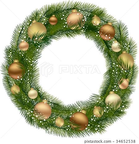 Traditional Christmas Wreath 34652538