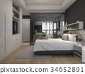 bed, bedroom, interior 34652891