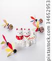 จักรราศีหวาย figurine (พื้นหลังสีขาว) 34652953