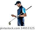 高尔夫 高尔夫球手 白底 34653325
