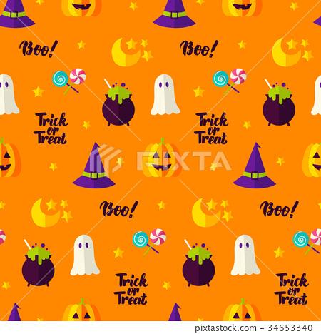Trick or Treat Seamless Pattern 34653340
