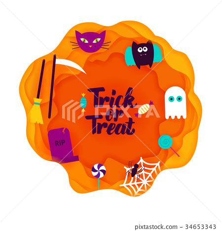 Trick or Treat Paper Cut 34653343