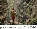 Muscular warrior in gladiator armor 34653561