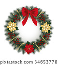 Christmas wreath 34653778