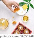 Mid-autumn festival mooncake 34653948