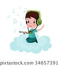 cloud, listening, little 34657391