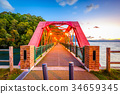 Rail Bridge on Lake Shikotsu, Japan 34659345