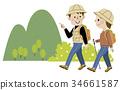 徒步旅行 遠足 夫婦 34661587