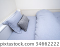 單人一室公寓半雙人床四分之三床夏季床單 34662222