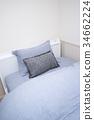 싱글 원룸 세미 더블 침대 three-quarter bed 여름용 마 시트 34662224