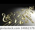 音乐 音符 笔记 34662376