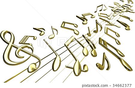 音乐 音符 笔记 34662377