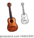 musical instrument sketch 34662995