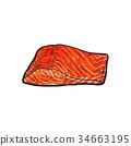 海 魚 魚片 34663195