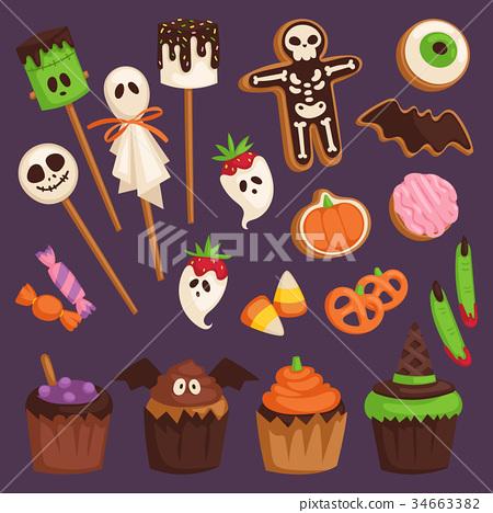 Halloween cookie cake symbols of food for creepy 34663382